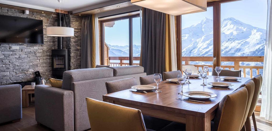 Eine Ferienwohnung des Alparena Hotel & Spa, Unterkünfte in La Rosiere, Skigebiet Espace San Bernardo, Skireisen/Skiurlaub in Frankreich, französische Alpen.