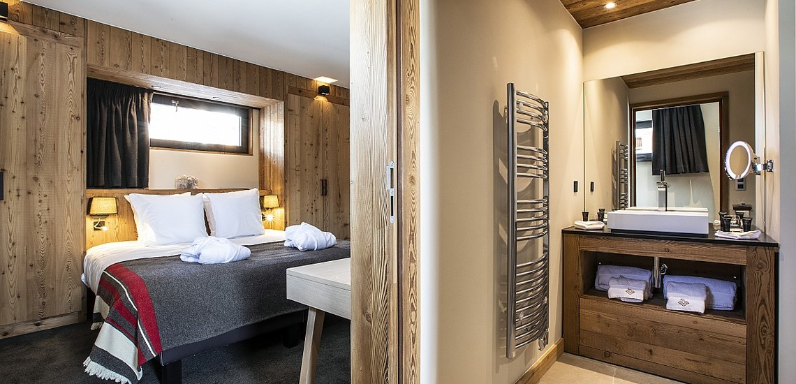 Alpe d'Huez Chalet - Les Chalets du Daria, Schlafzimmer - Skireisen / Skiurlaub in Alpe d Huez
