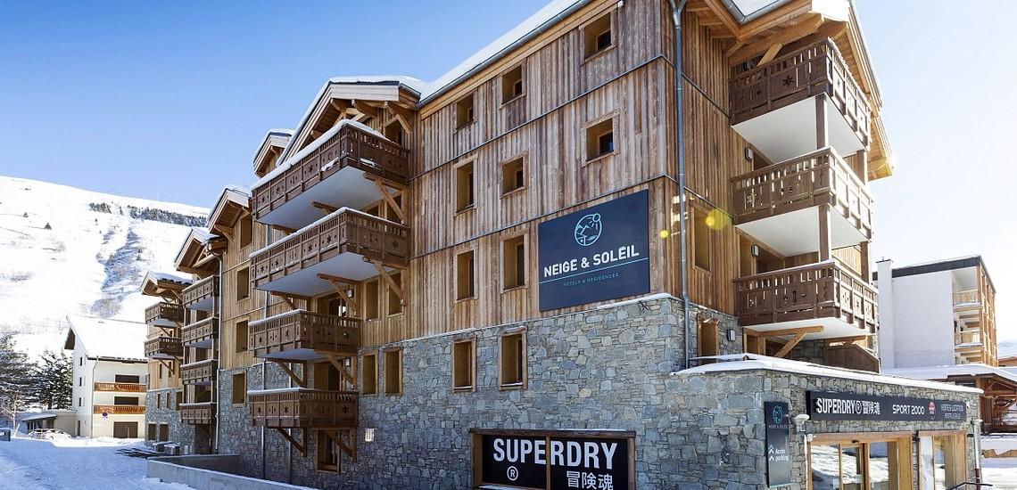Unterkünfte • Ferienwohnung Neige et Soleil • Les 2 Alpes / Deux Alpes •  Residenz, Aussenansicht