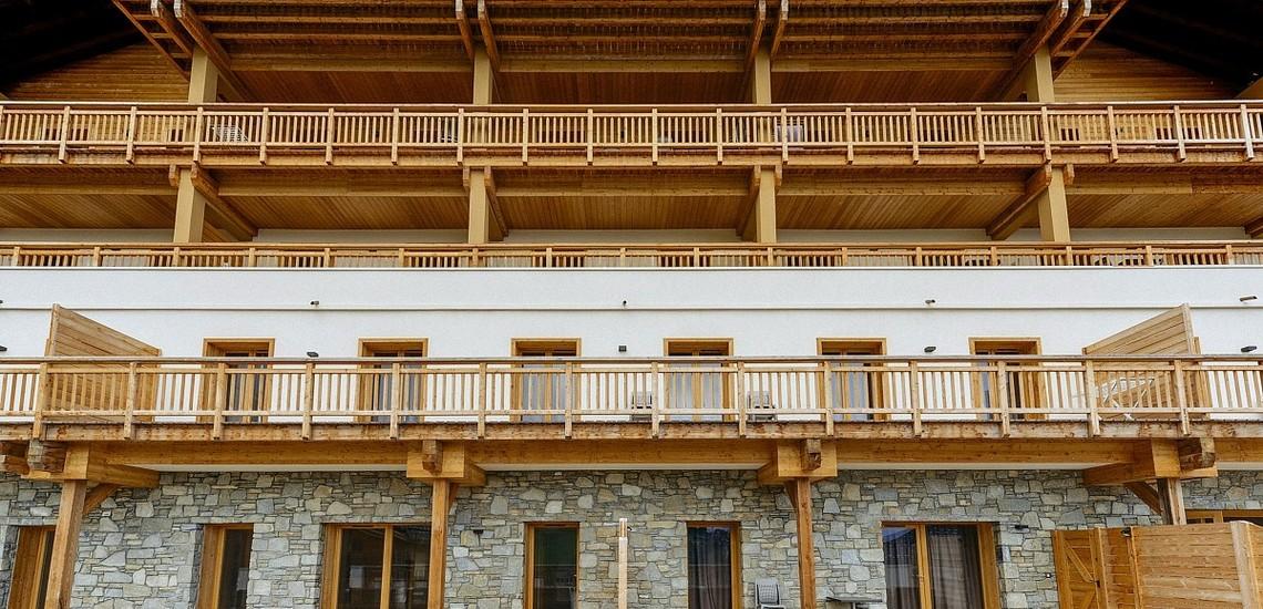 Unterkünfte · Ferienwohnung Les Fermes du Mont Blanc · Combloux · Residenz Aussenansicht