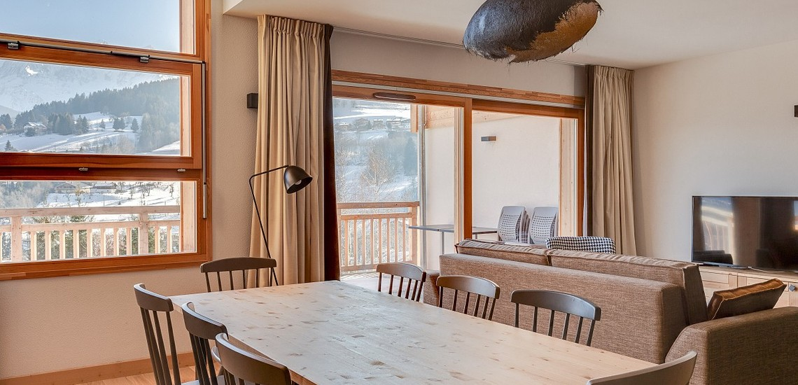 Ferienwohnungen & Chalets · Les Fermes du Mont Blanc · Combloux · Wohnen Essen