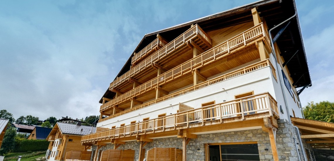 Ferienwohnungen & Chalets · Les Fermes du Mont Blanc · Combloux · Residenz aussen