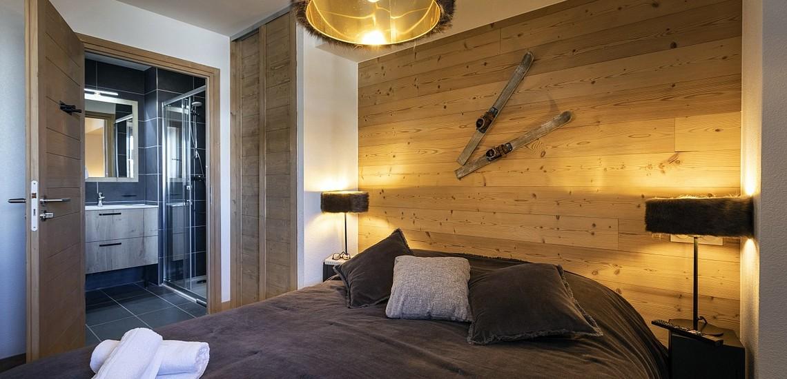 Unterkünfte • Ferienwohnung Neige et Soleil • Les 2 Alpes / Deux Alpes •  Schlafzimmer, Bad/Dusche
