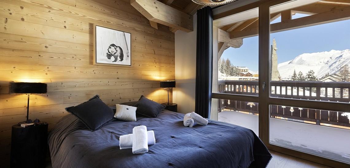 Unterkünfte • Ferienwohnung Neige et Soleil • Les 2 Alpes / Deux Alpes •  Schlafzimmer, Balkon