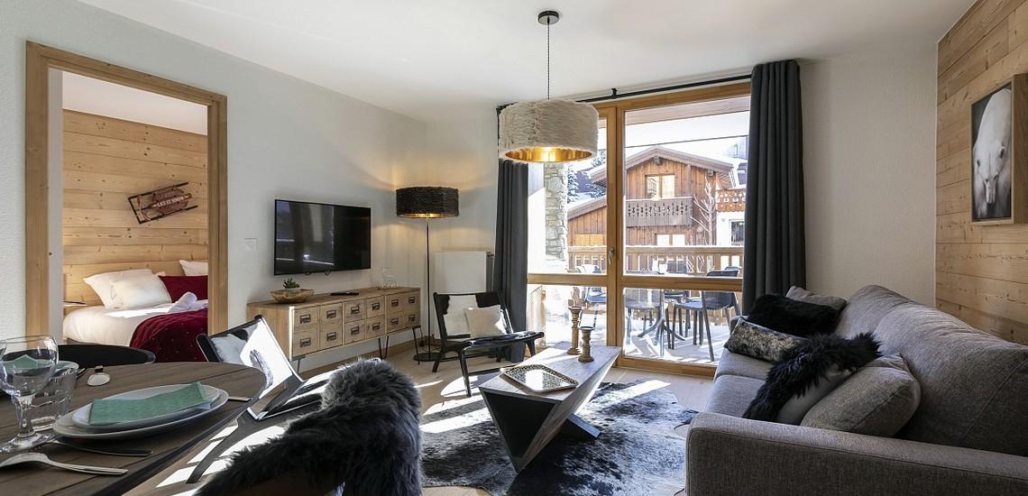 Unterkünfte • Ferienwohnung Neige et Soleil • Les 2 Alpes / Deux Alpes •  Wohnzimmer