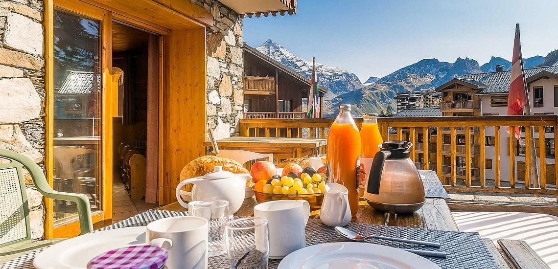 Chalet Gypaete - Ferienwohnungen in Tignes - 7-Zi.-Whg.14 - Terrasse