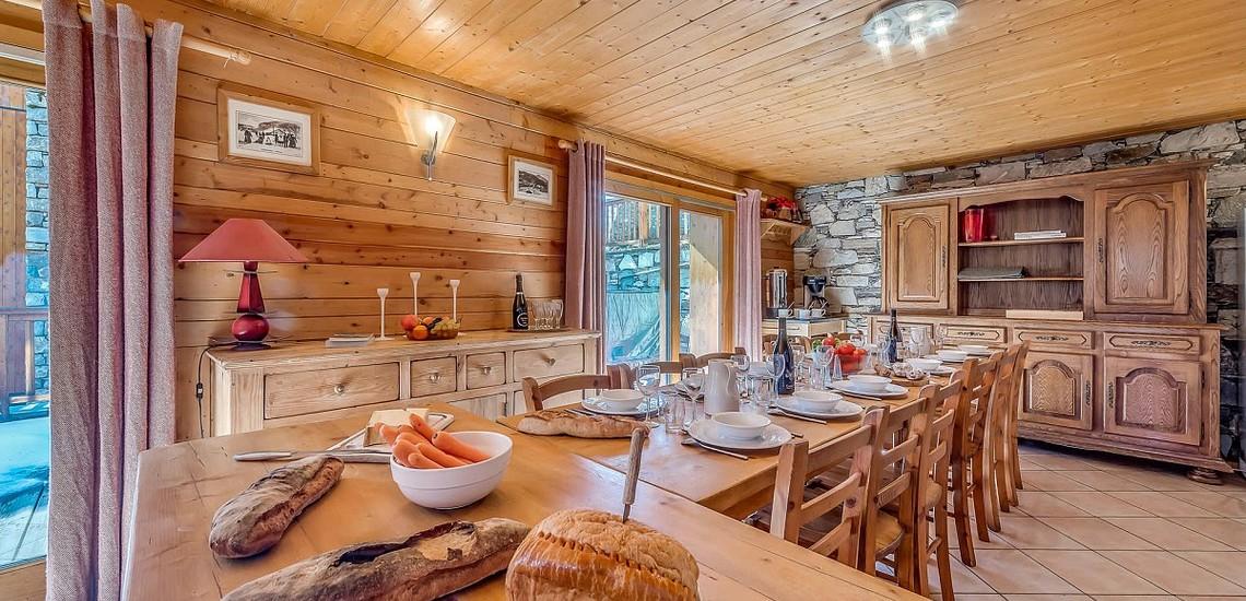 Chalet Gypaete - Ferienwohnungen in Tignes - 7-Zi.-Whg.14 - Essen