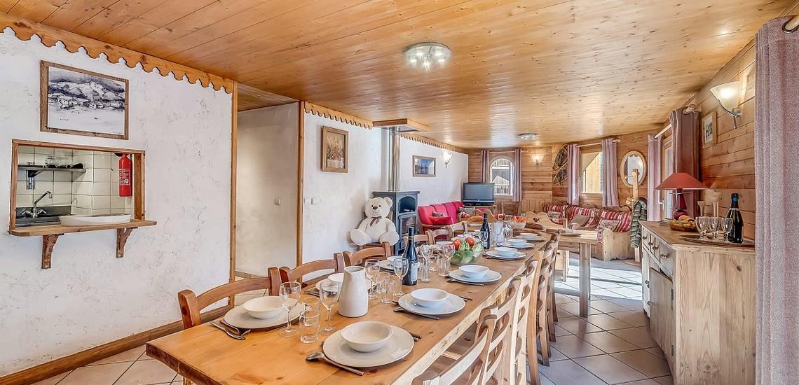 Chalet Gypaete - Ferienwohnungen in Tignes - 7-Zi.-Whg.14 - Essen, Wohnen