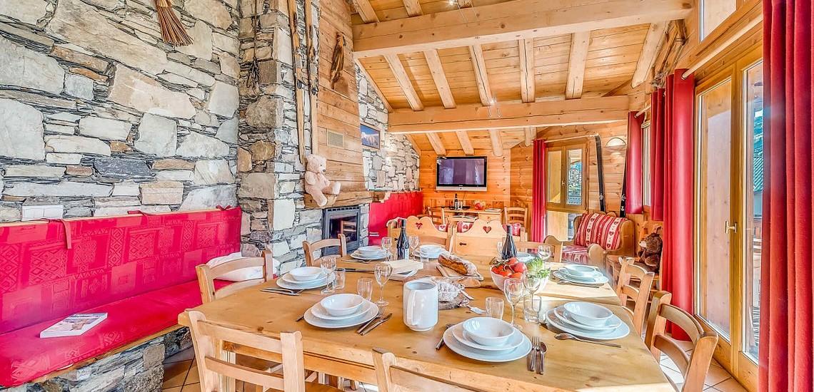 Chalet Gypaete - Ferienwohnungen in Tignes - 6-Zi.-Whg.10 - Essen, Wohnen