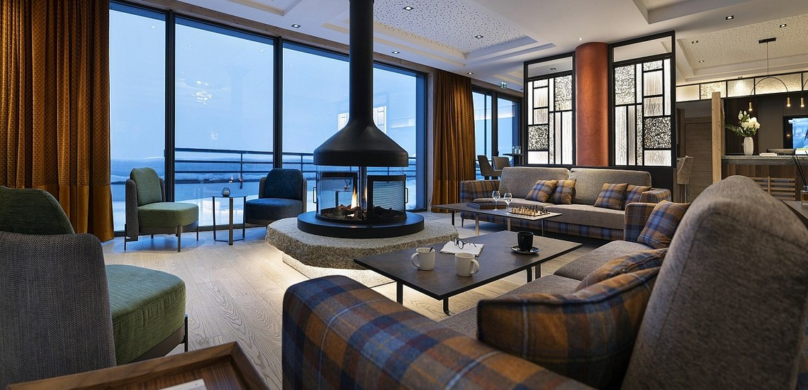 Alpen Lodge Ferienwohnungen in La Rosiere - Salon