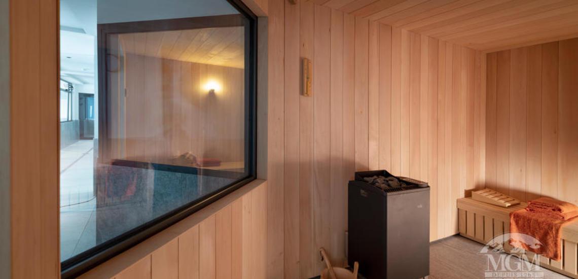 Alpen Lodge Ferienwohnungen in La Rosiere - Sauna