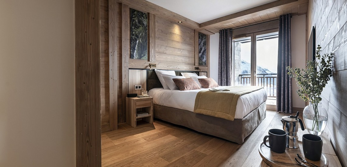 Alpen Lodge Ferienwohnungen in La Rosiere - Schlafzimmer