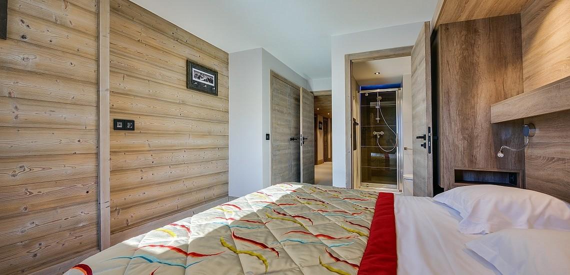 Ferienwohnungen La Plagne: Residenz White Pearl, Schlafzimmer m Bad/Dusche