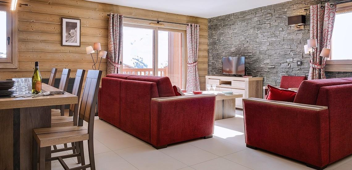 Ferienwohnungen La Plagne: Residenz White Pearl, Essen, Wohnen