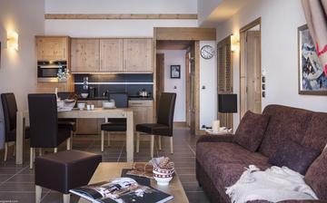 Tignes · Ferienwohnungen · Lodge des Neiges, direkt in Tignes 1800, im Skigebiet Espace Killy, dem gemeinsamen Skigebiet von Tignes und Val d'Isere. Ferienwohnungen inklusive Skipass. Skiurlaub in Frankreich. Skifahren in den französischen Alpen.