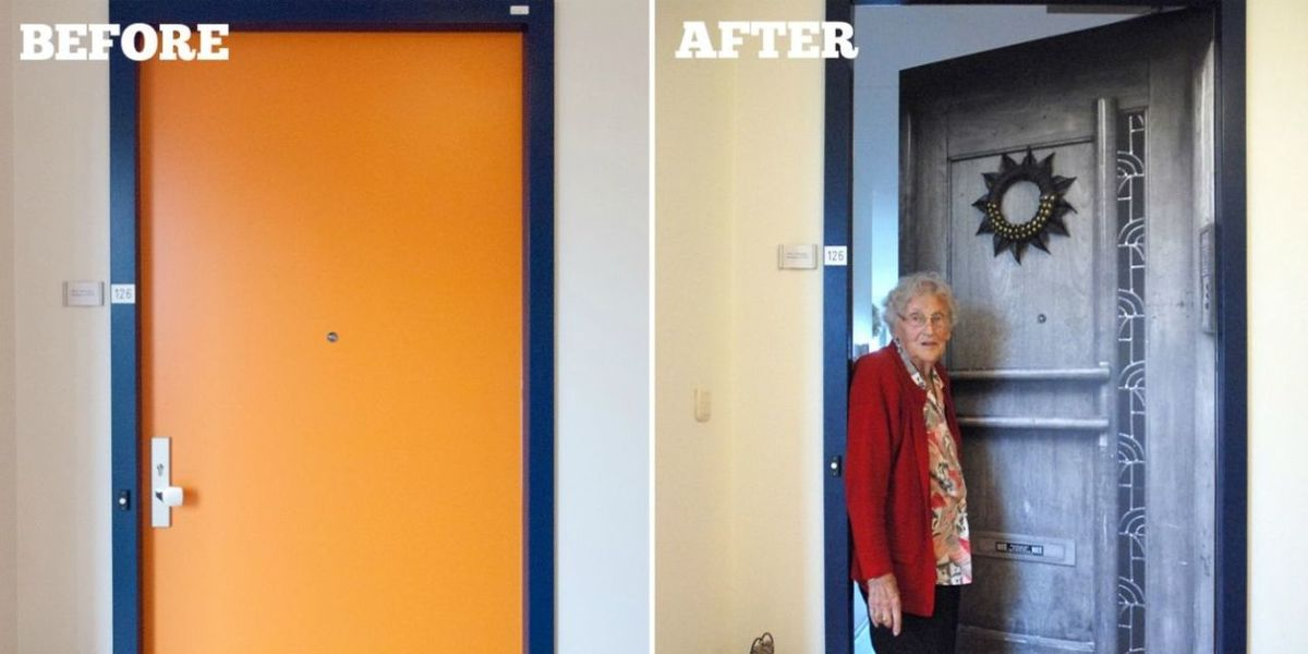 Dementia Patients Feel More At Home Thanks to This Company's Genius Custom Door Decals