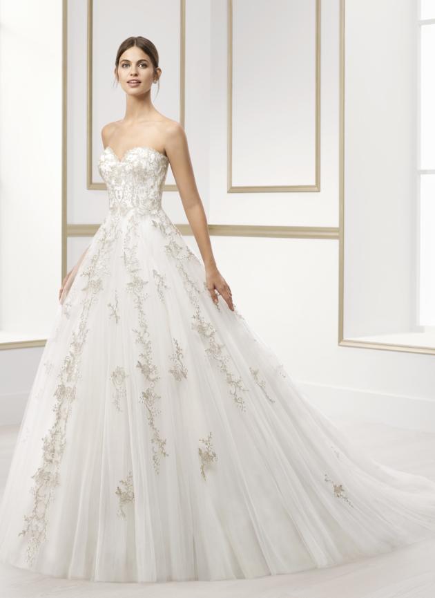 Bruidsjurken trends  metallic Rosa Clara
