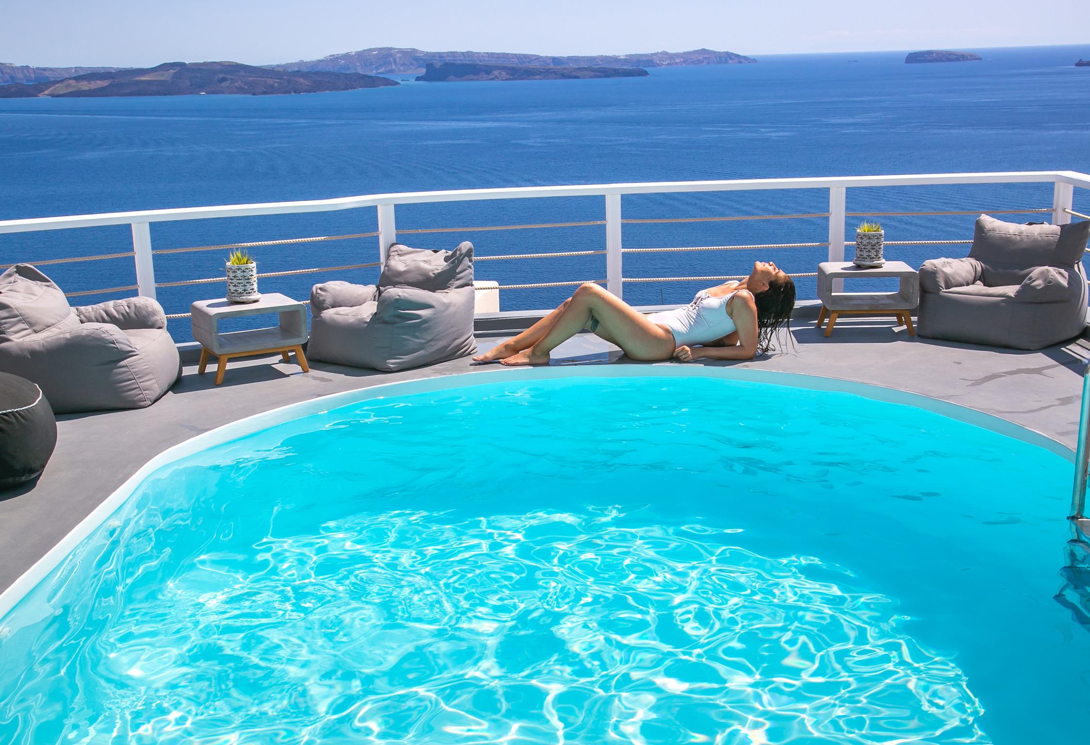 Santorini Villa Thais Ocean jumbotron image