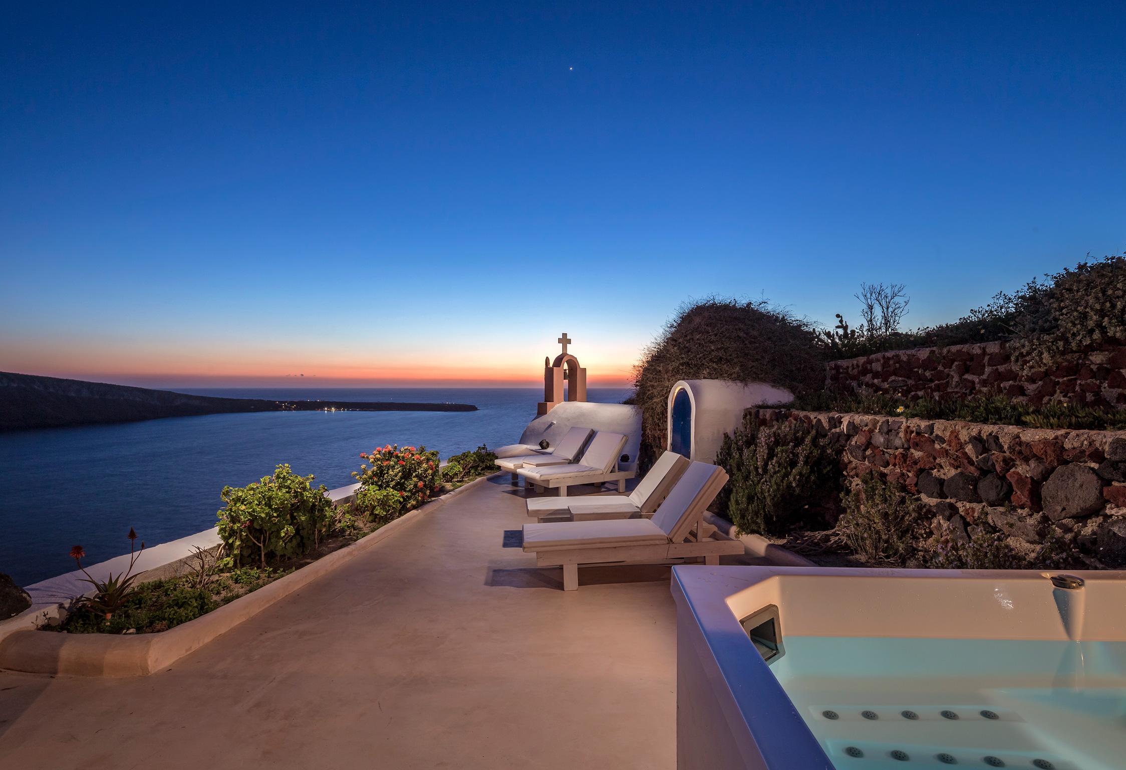 Santorini Villa Thais Sunset jumbotron image