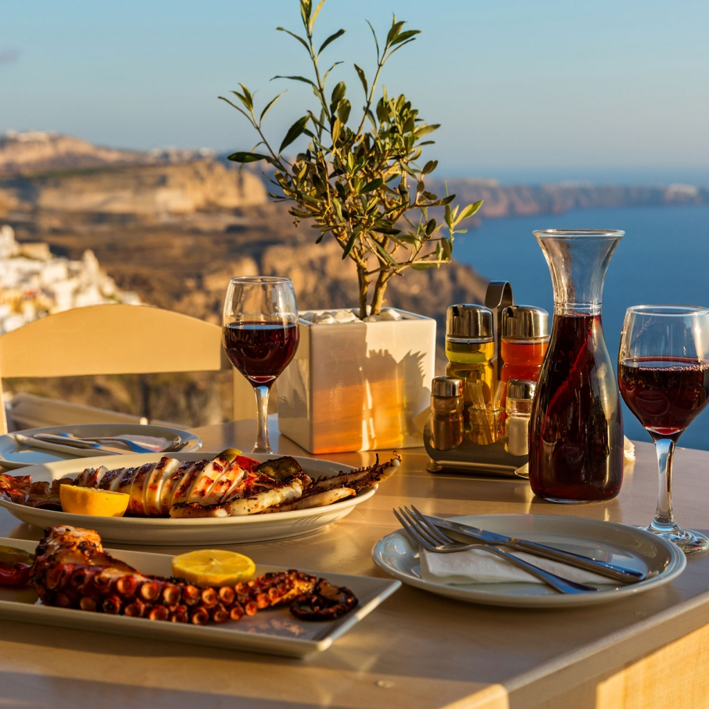 Santorini Dine & Wine Private Experience