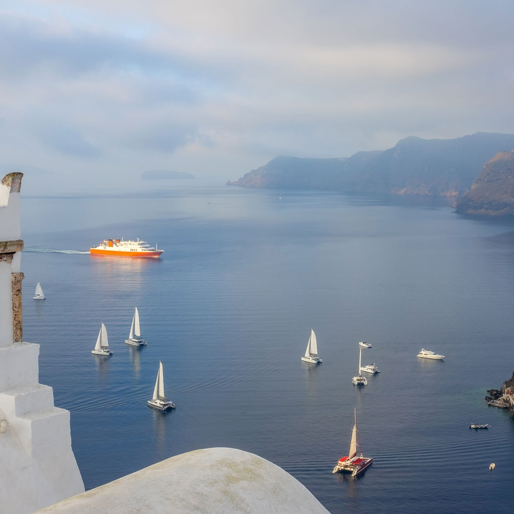 Private Cruise, Santorini, Caldera Endless Blue, Half Day