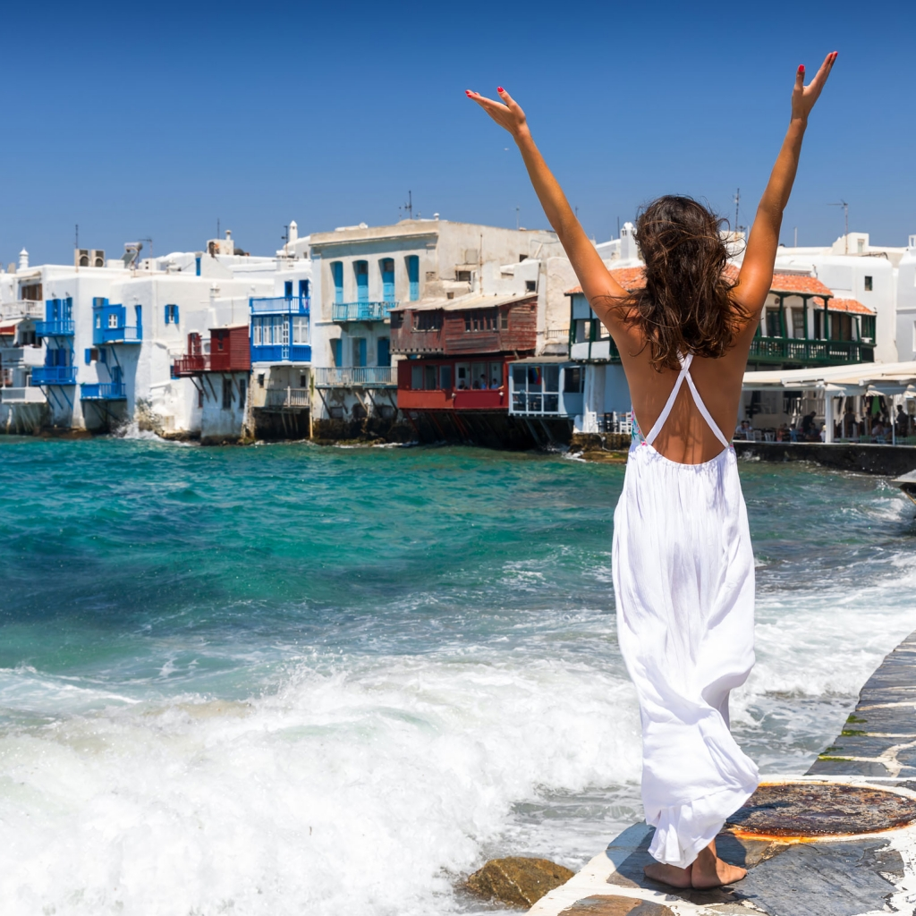 Mykonos Vacation Photoshoot