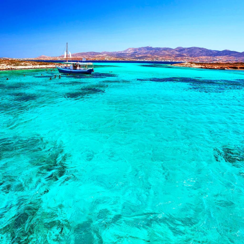 Private Cruise, Panteronissi-Despotiko-Antiparos, Full Day