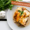 Heerlijke koolhydraatarme lasagne gemaakt van courgette plakken.
