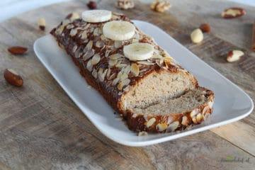 Heerlijk brood gemaakt van amandelmeel, banaan, ei en speculaas kruiden!