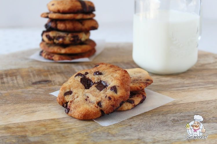 Suikervrije chocolate chip koekjes.