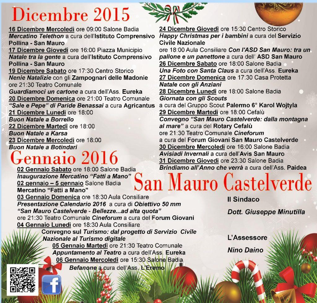 Locandina Natale Comune di San Mauro Castelverde