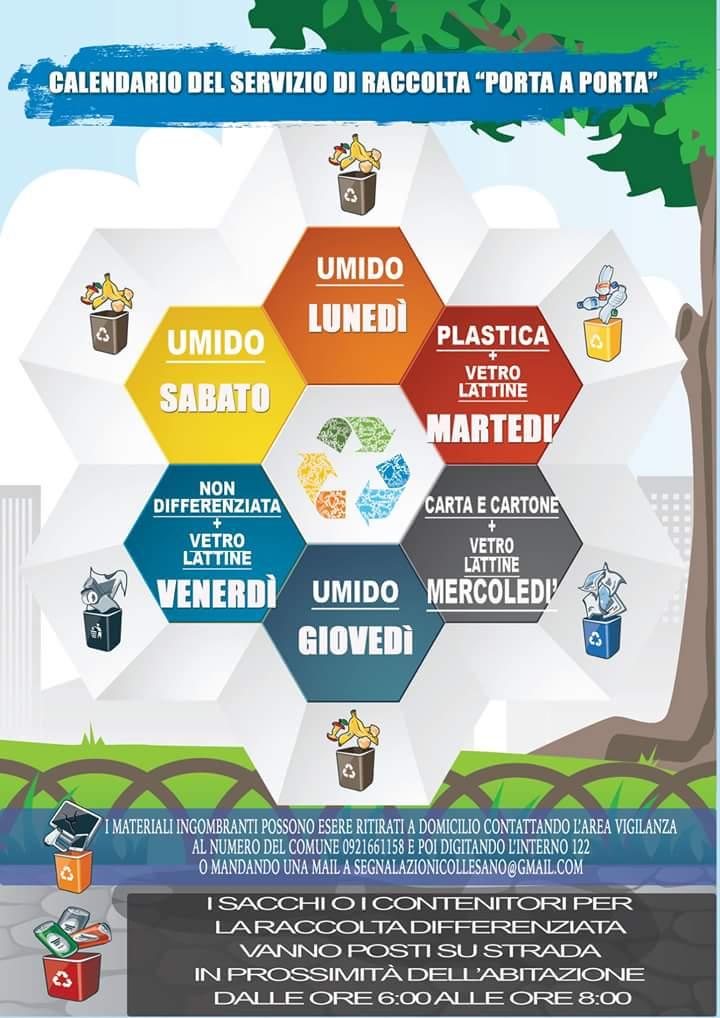 Raccolta Differenziata Palermo Calendario.Collesano Al Via Il Potenziamento Del Servizio Di Raccolta