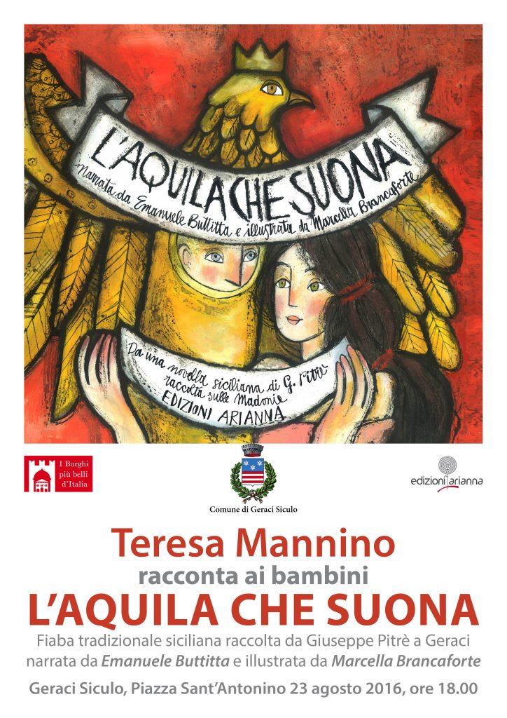 L'Aquila che suona. Locandina Geraci Siculo. 23.08.16