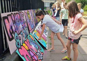 workshop graffiti voor jeugd Loekie.nu