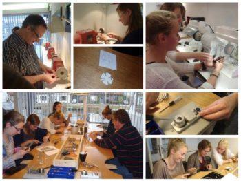 Edelsmeden workshop bij Loekie.nu. Maak je eigen zilveren sieraad.