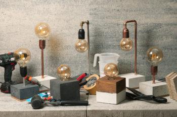 Betonlamp loekie workshop