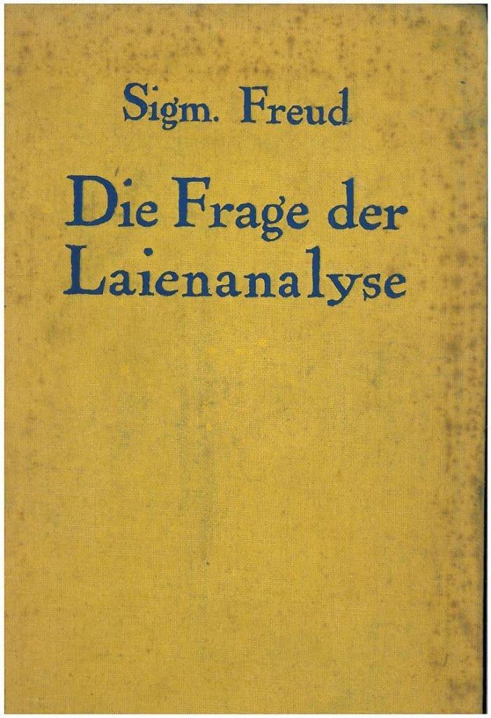 Copertina della 1^ edizione del testo di Sigmund Freud Die Frage der Layenanalyse