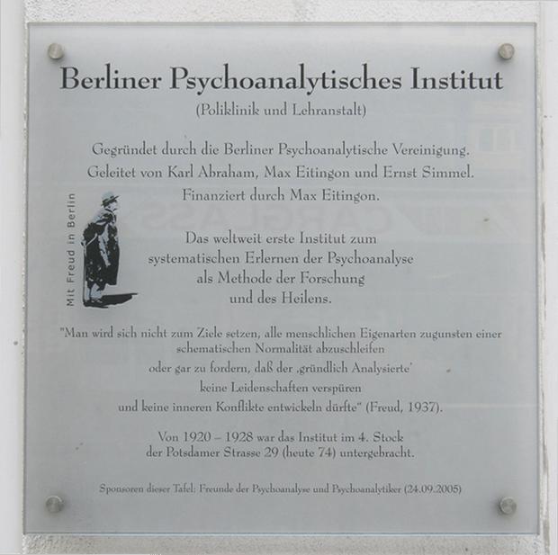 Insegna dell'Istituto Psicanalitico di Berlino