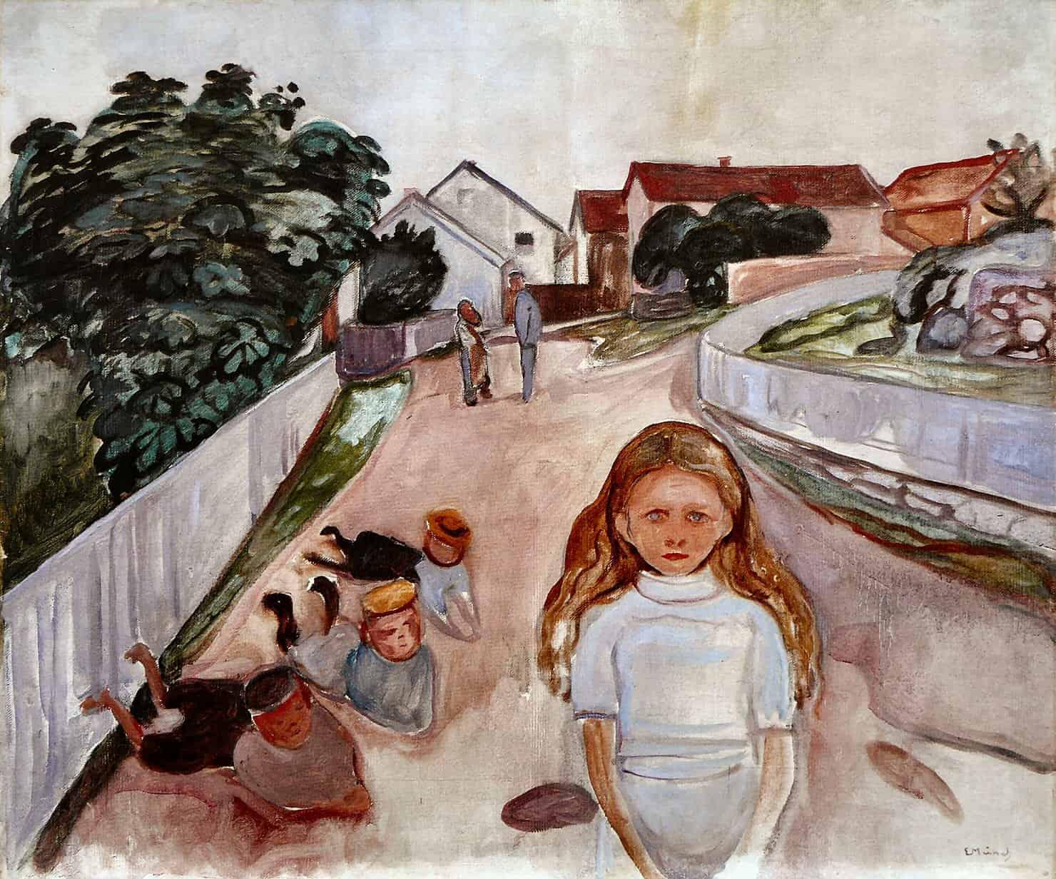 Edvard Munch - Street in Åsgårdstrand (1902)