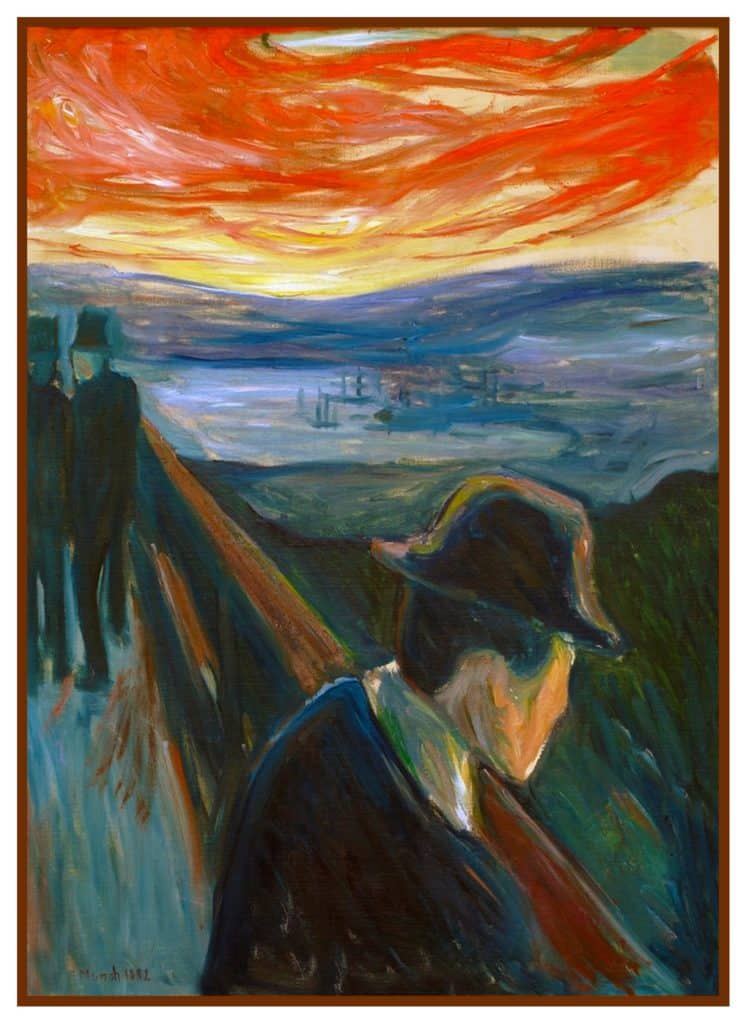 Edvard Munch - Sick mood at sunset. Despair (1892)