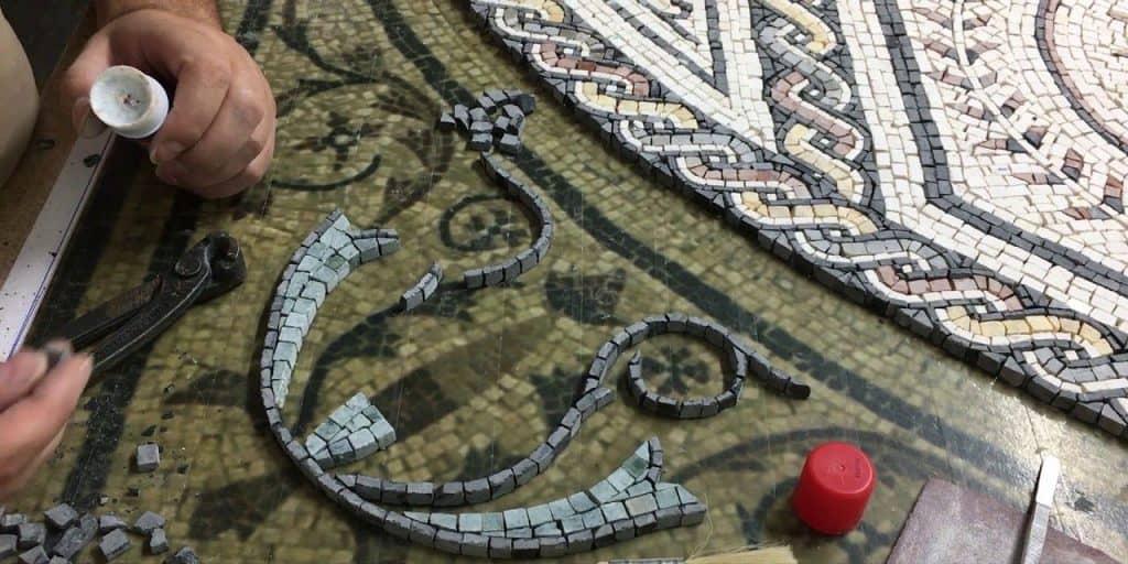 Mosaico realizzato con metodo indiretto