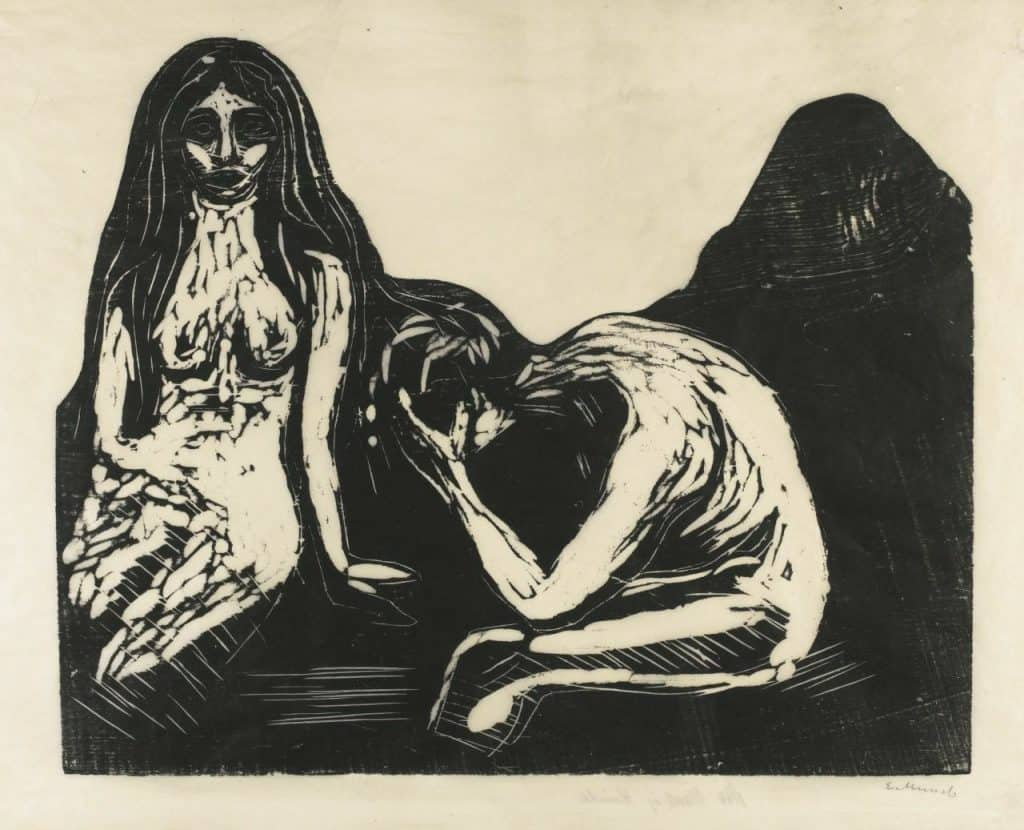 Edvard Munch - Man and Woman (1899)