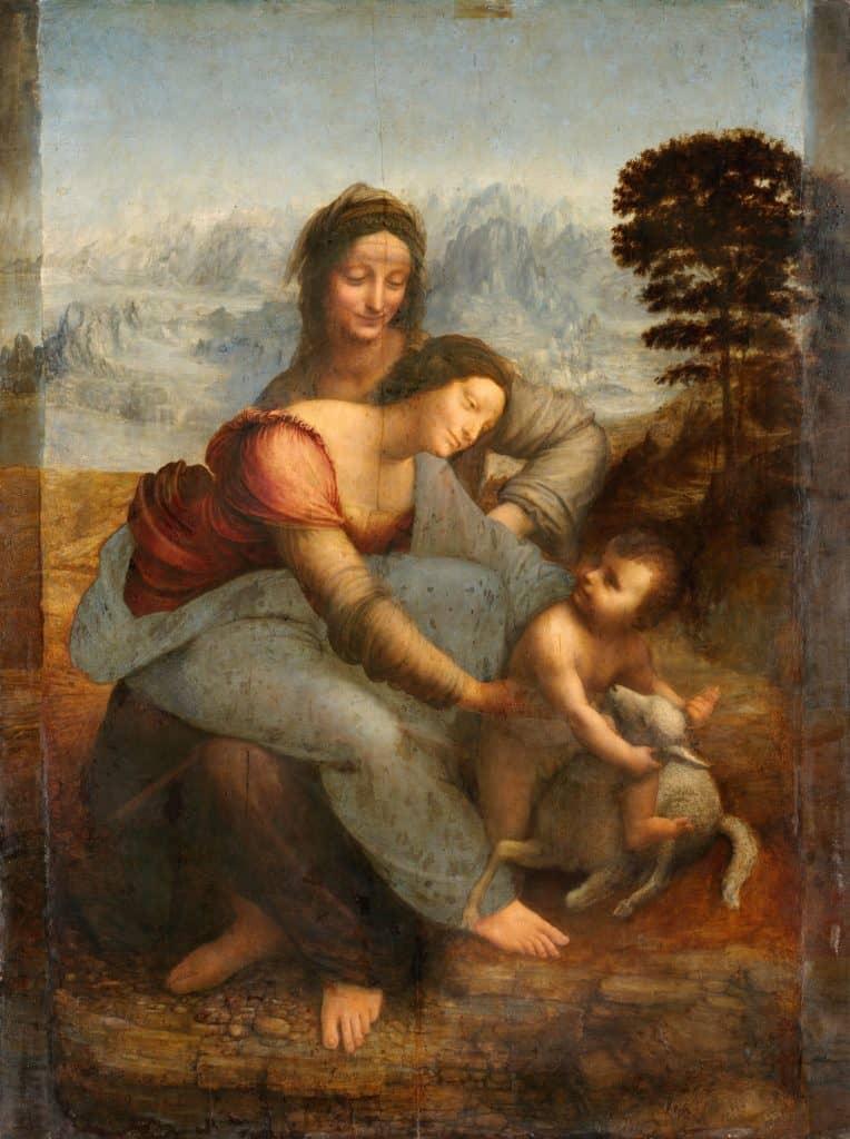 Leonardo da Vinci - Sant'Anna, la Vergine e il Bambino con l'agnellino (1510-1513)