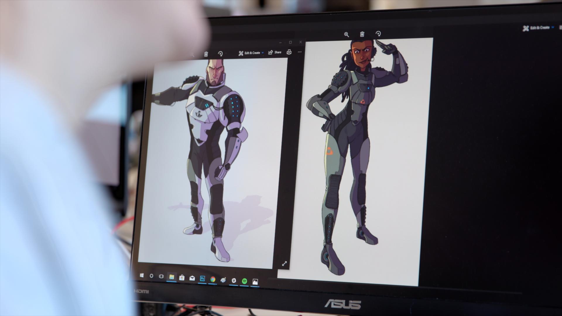 MekaMon character concepts