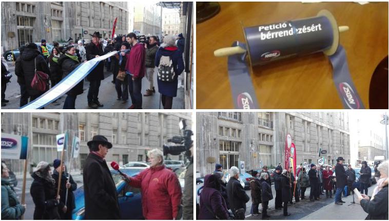20 méteres petícióval követelnek bértárgyalásokat a közművelődési dolgozók