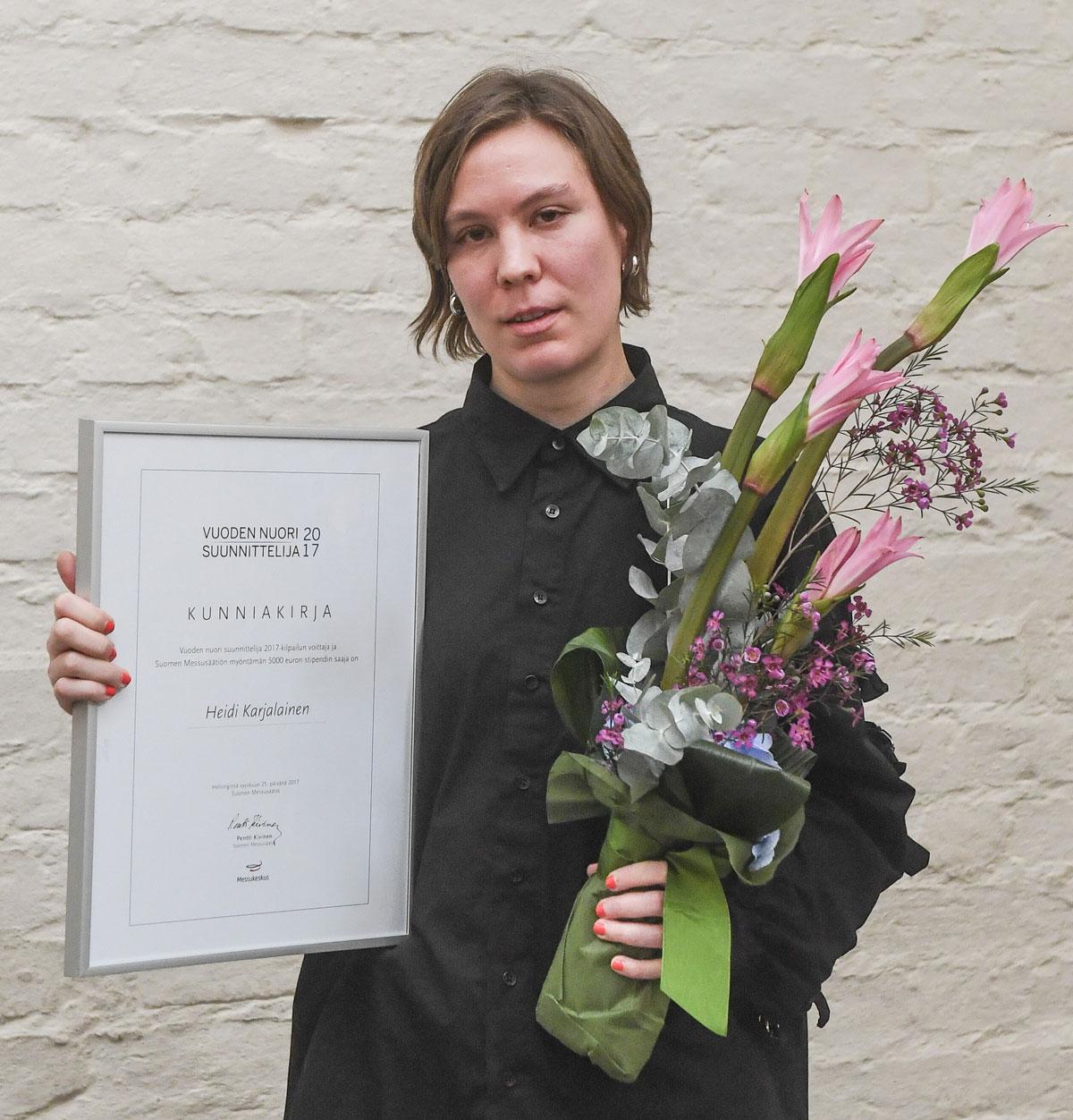 Vuoden nuori suunnittelija on Heidi Karjalainen
