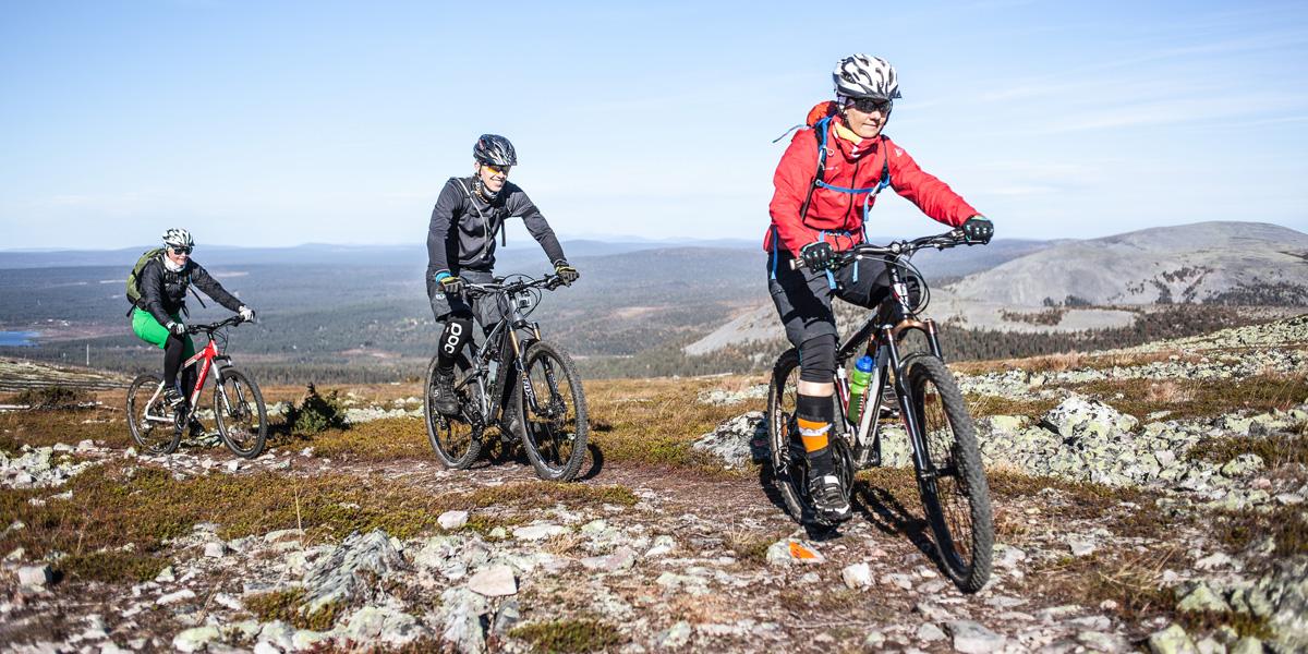 Maastopyöräily onnistuu Pallas-Yllästunturin kansallispuistossa