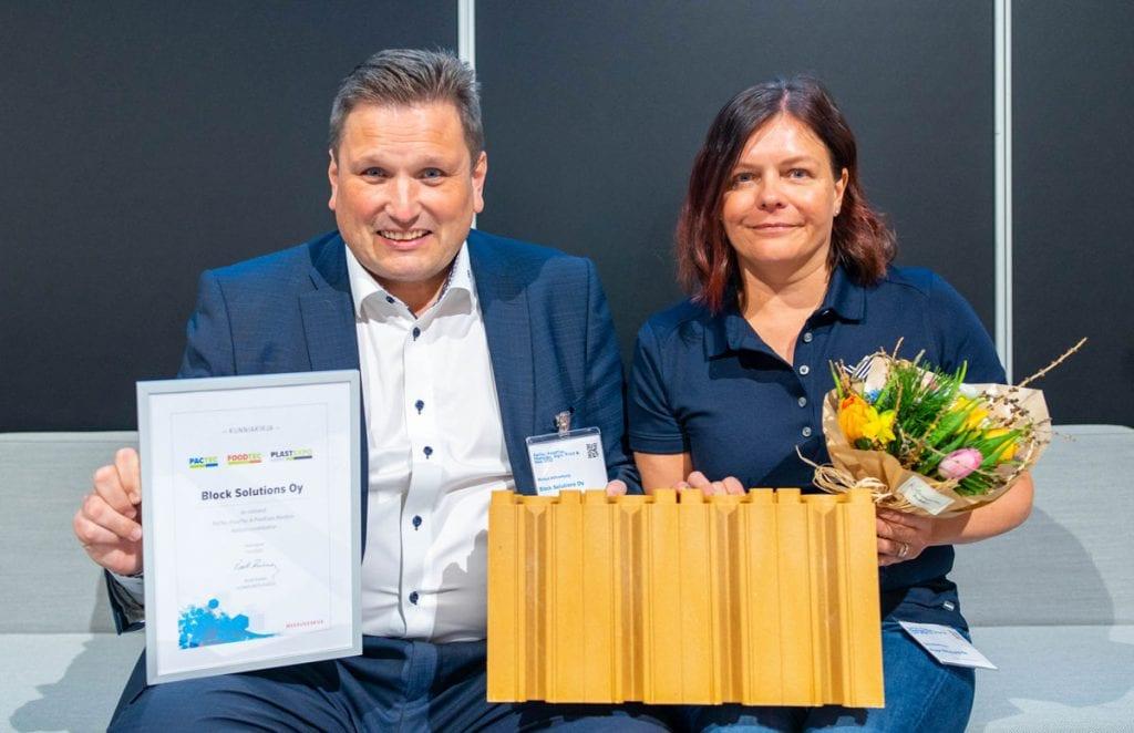 PacTec, FoodTec & PlastExpo Nordicin vastuullisuuskilpailun voitti Block Solutions Oy