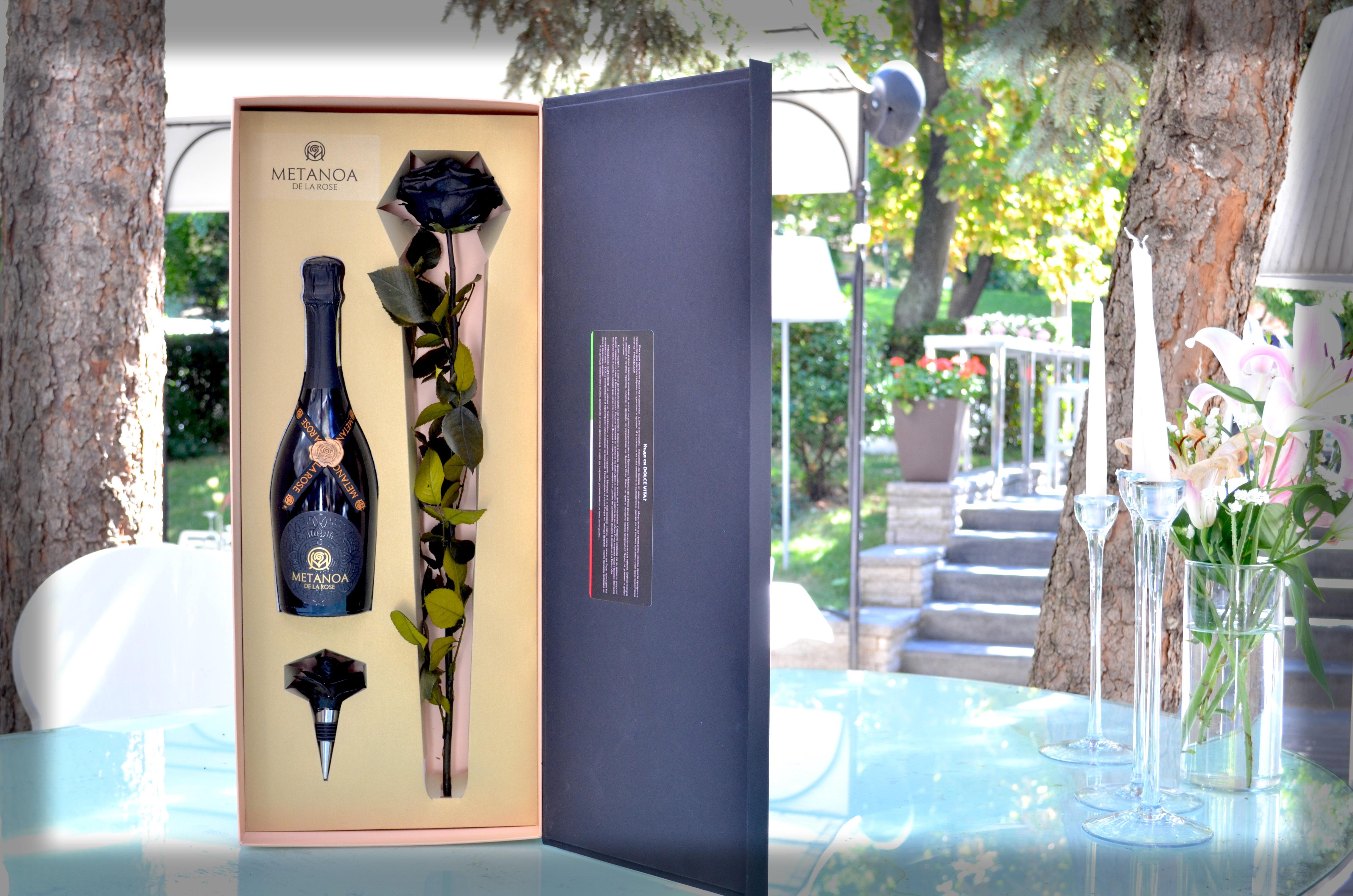 Dolce Vita Подарък - Черна Роза & Просеко