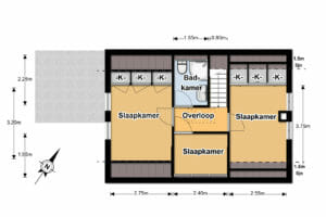 1e verdieping 2D